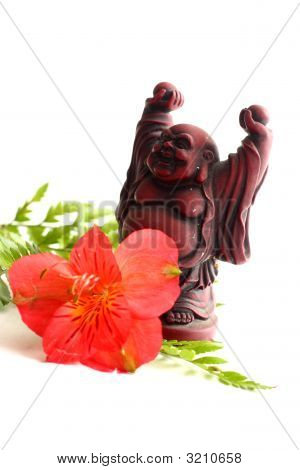 Buddha And Lilies