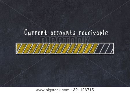 Chalk Drawing Of Loading Progress Bar With Inscription Current Accounts Receivable.