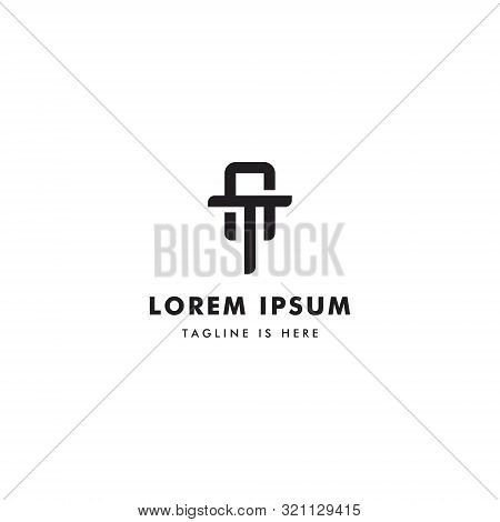 At Or Ta Monogram Letter Design, Modern Design With The Initial At.