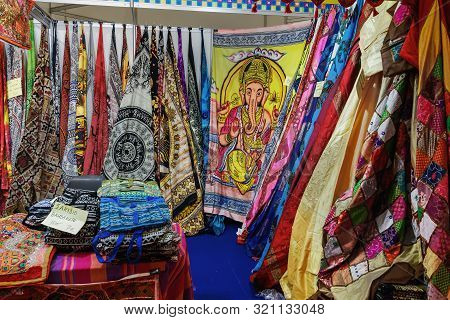 Thessaloniki, Greece - September 08 2019: Inside 84rth International Fair Pavilions. Fair Takes Plac