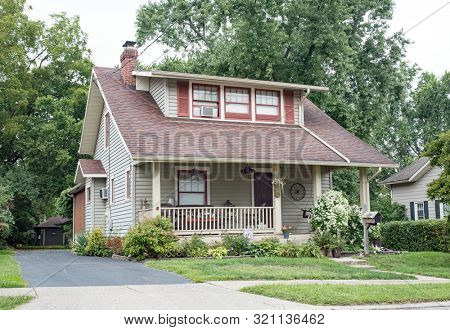 Homey House in Old Neighborhood with Front Porch