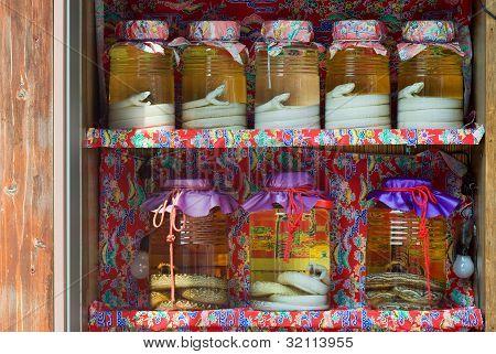 Habu Snakes in Alcohol Jars
