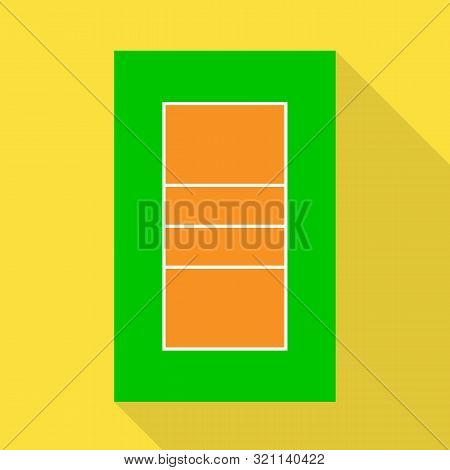 Vector Design Of Volleyball And Stadium Icon. Set Of Volleyball And Volley Stock Vector Illustration