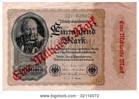 One Billion Mark Note