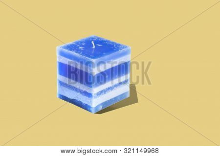 Large Square Multilayer Deep Ocean Color Interior Candle Interior Candle