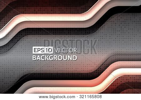 Abstract Technology Geometric Modern Background. Design Vector Illustration With Color Wave And Dots