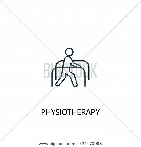 Physiotherapy Concept Line Icon. Simple Element Illustration. Physiotherapy Concept Outline Symbol D