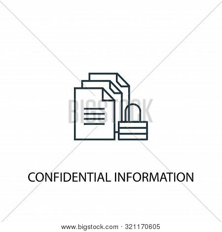 Confidential Information Concept Line Icon. Simple Element Illustration. Confidential Information Co