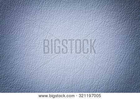 Light Blue Leather Texture Background With Pattern, Closeup. Reptile Skin. Silver Skin Of A Crocodil