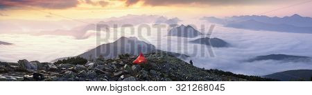 Star Bivouac With Red Tent