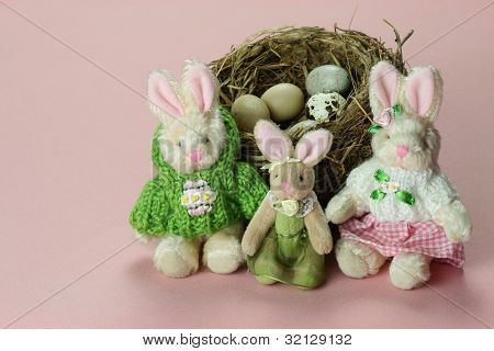 Pink Easter Family