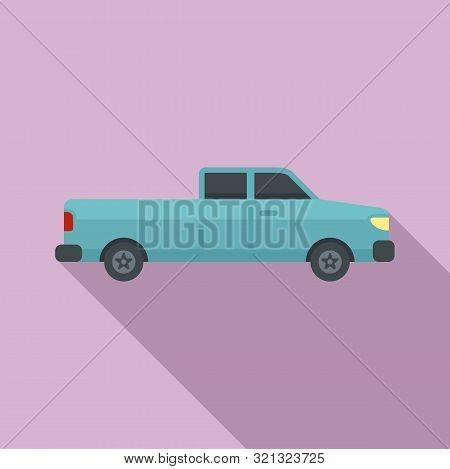 Pickup Car Icon. Flat Illustration Of Pickup Car Vector Icon For Web Design