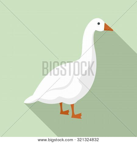 Goose Icon. Flat Illustration Of Goose Vector Icon For Web Design