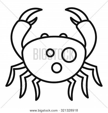 Sea Crab Icon. Outline Sea Crab Vector Icon For Web Design Isolated On White Background