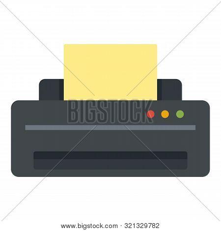 Jet Printer Icon. Flat Illustration Of Jet Printer Vector Icon For Web Design