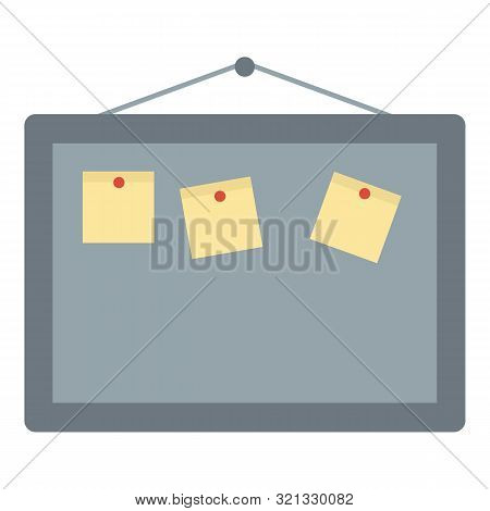Office Board Icon. Flat Illustration Of Office Board Vector Icon For Web Design