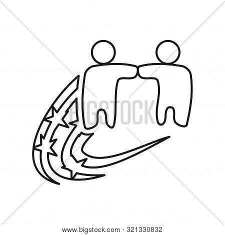 People Star Swash Commitment Teamwork Together Outline Logo