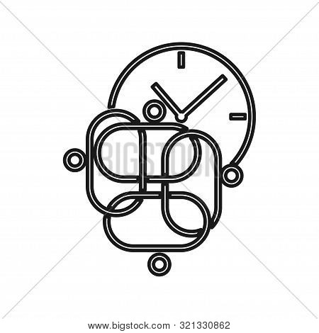 Time Watch People Commitment Teamwork Together Outline Logo