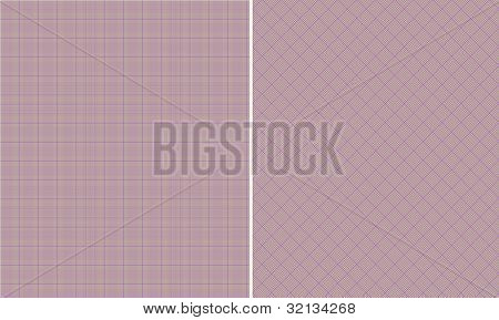 Purple & Brown Houndstooth Paper Set