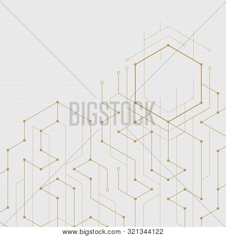 Abstract Geometric Lines. Connection And Social Network. Concept With Lines And Dots. Minimalistic D