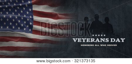 American National Holiday. Us Flag Background With American Stars, Stripes And National Colors. Text