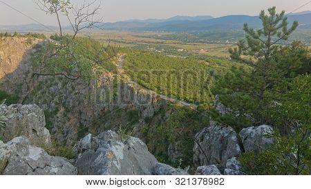 View From Biokovo Mountain To The Nature Park , Croatia