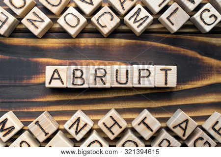 Abrupt Wooden Cubes With Letters, Rude And Unfriendly Concept, Around The Cubes Random Letters, Top