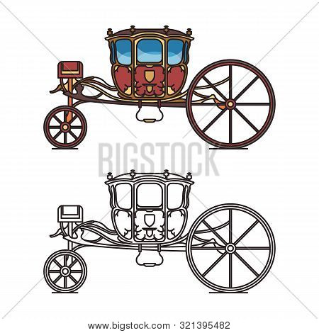 Medieval royal chariot for king or prince poster