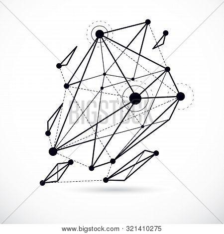 3d Engineering Vector Backdrop, Abstract Polygonal Shape. Construction Industry Illustration.