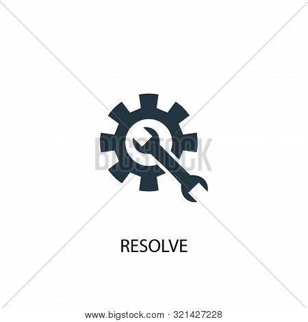 Resolve Icon. Simple Element Illustration. Resolve Concept Symbol Design. Can Be Used For Web