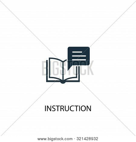 Instruction Icon. Simple Element Illustration. Instruction Concept Symbol Design. Can Be Used For We