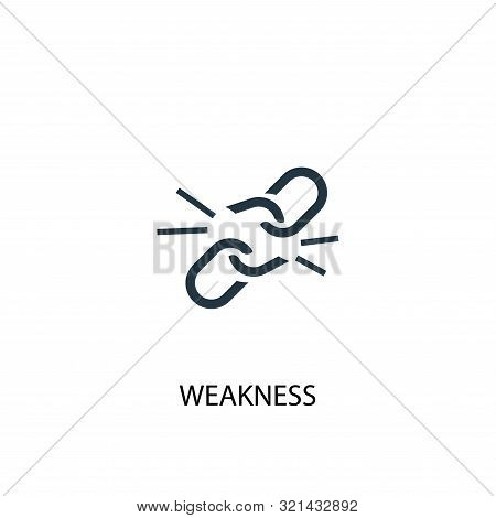 Weakness Icon. Simple Element Illustration. Weakness Concept Symbol Design. Can Be Used For Web
