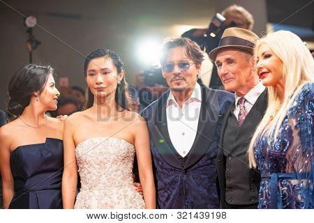 Monika Bacardi, Mark Rylance, Johnny Depp, Gana Bayarsaikhan, Olga Segura walk the red carpet ahead of the