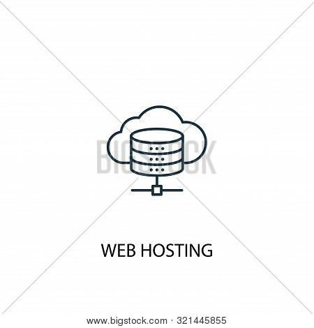 Web Hosting Concept Line Icon. Simple Element Illustration. Web Hosting Concept Outline Symbol Desig