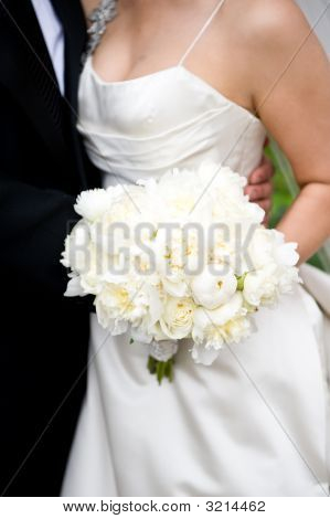 Bride Holding Her Bouquet With Groom