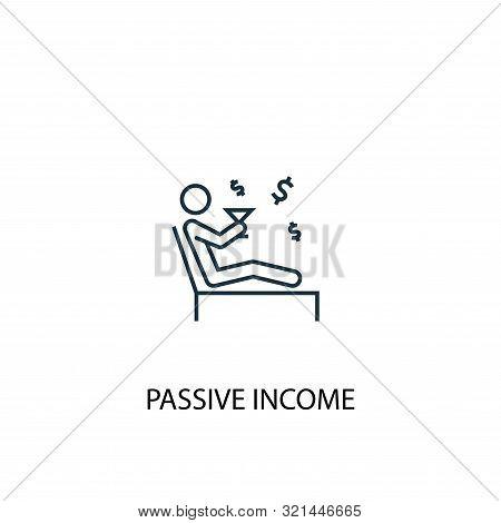Passive Income Concept Line Icon. Simple Element Illustration. Passive Income Concept Outline Symbol