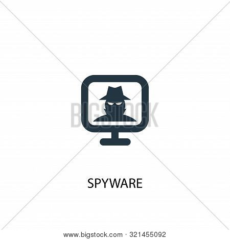 Spyware Icon. Simple Element Illustration. Spyware Concept Symbol Design. Can Be Used For Web
