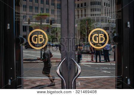 Orlando, Florida. August 17, 2019. Grand Bohemian Hotel Main Entrance At Downtown Area 28