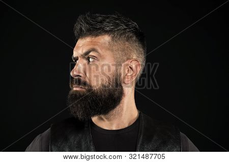 Brutal Look. Mature Hipster With Beard. Bearded Man. Hair And Beard Care. Male Barber Care. Confiden