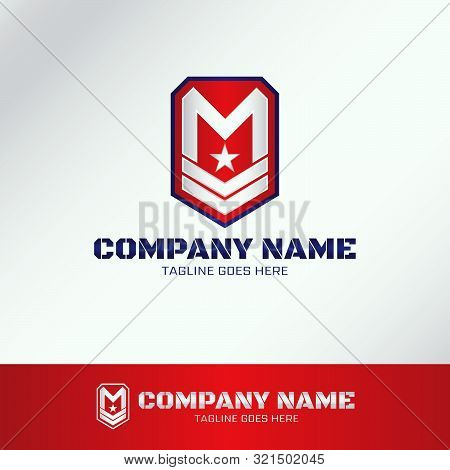 Military Army Logo Template With Letter