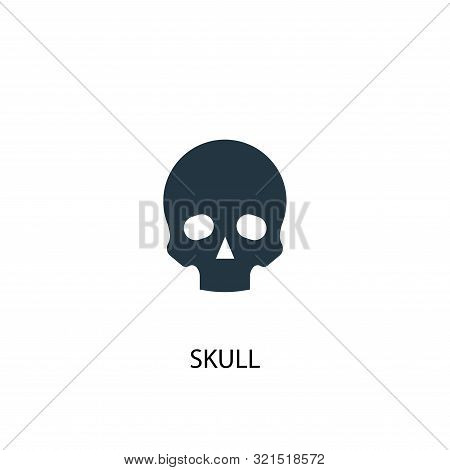 Skull Icon. Simple Element Illustration. Skull Concept Symbol Design. Can Be Used For Web
