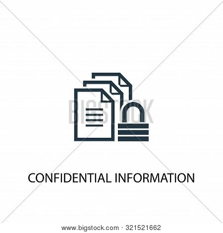 Confidential Information Icon. Simple Element Illustration. Confidential Information Concept Symbol
