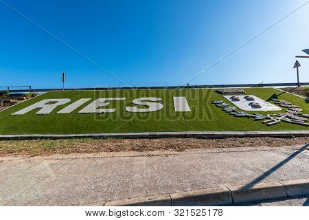 City Of Riesi Welcome Sign, Caltanissetta, Sicily, Italy, Europe