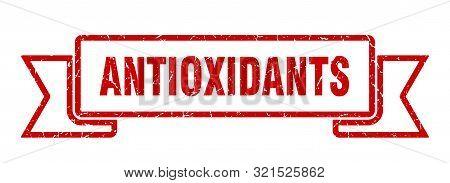 Antioxidants Grunge Ribbon. Antioxidants Sign. Antioxidants Banner