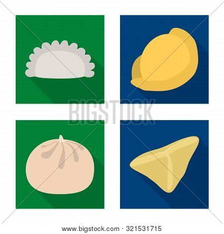 Vector Illustration Of Products And Cooking Logo. Set Of Products And Appetizer Stock Symbol For Web