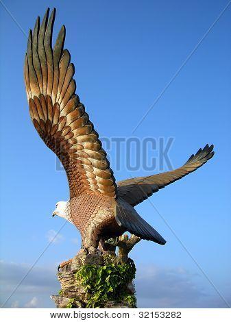 Big eagle statue, the symbol of Langkawi island ,Malaysia poster