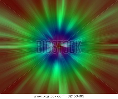 background with multi colored zoom lines special effect of motion