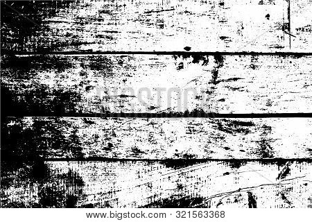 Old Wall, Horizontal Wooden Planks. Vector Detailed Texture. Abstract Background.