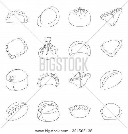 Vector Illustration Of Food And Dish Symbol. Collection Of Food And Cooking Vector Icon For Stock.