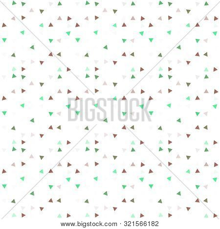 Abstract Seamless Pattern Background With Multi-colored Varied Triangles.